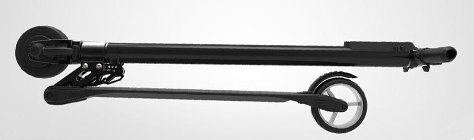 электросамокат Jack hot сложенный сбоку