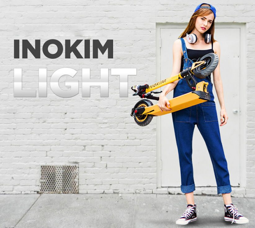электросамокат inokim light в руке